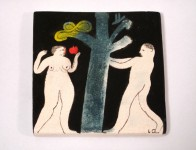 Adam and Eve tile © Laura Carlin