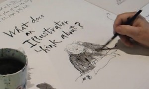 Quentin Blake drawing