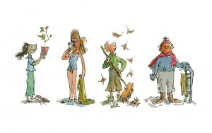 Illustration from All the Year Round, Andersen Press 2017 (c) Quentin Blake