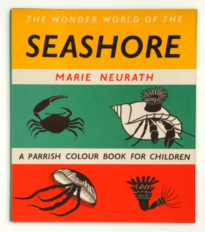 Cover for The Wonder World of the Seashore 1955 with permission of Otto and Marie Neurath Isotype Collection at University of Reading
