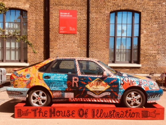 The Darktown Taxi outside House of Illustration