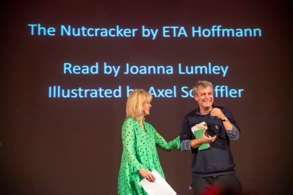Joanna Lumley and Axel Scheffler(c) Paul Grover