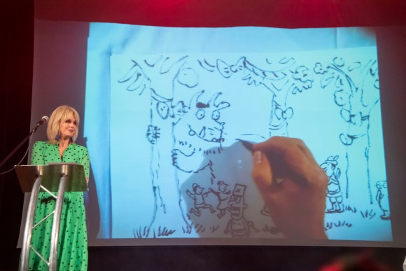 Joanna Lumley and Axel Scheffler (c) Paul Grover