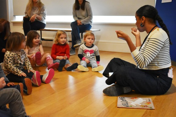 Story Time in the Gallery 1, Creative Fun for 2-5s © Rachel Stoplar