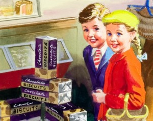 Shopping with Mother (detail) © Ladybird Books Ltd, 1958 Reproduced by permission of Ladybird Books Ltd.
