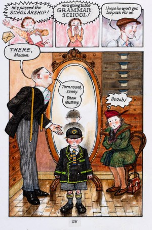Grammar School page, Ethel and Ernest © Raymond Briggs, 1998