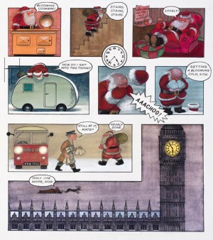 Page spread from Father Christmas © Raymond Briggs, 1973, published by Penguin Random House 2