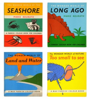 Selected book covers, with permission of Otto and Marie Neurath Isotype Collection at University of Reading