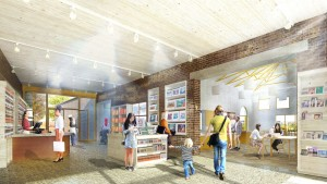 Quentin Blake Centre for Illustration, Tim Ronalds Architects, Prospective Foyer and Cafe