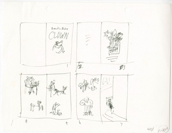 Storyboard for Clown © Quentin Blake 1